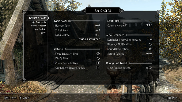 Best Skyrim mods - Realistic Needs and Diseases