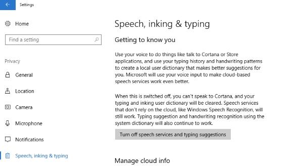 New Creators Update privacy settings