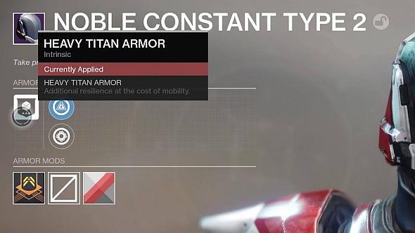 The legendary armour UI