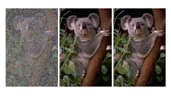Nvidia AI fixing noisy images
