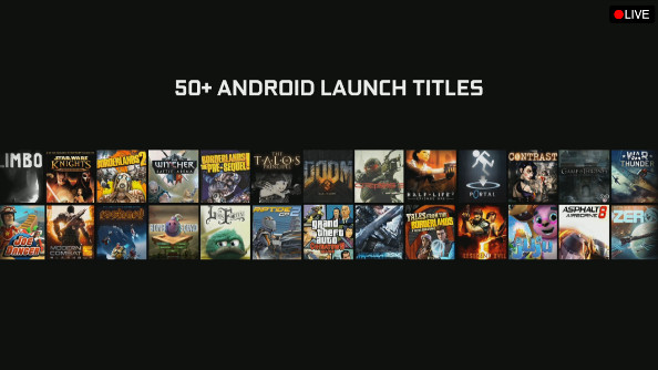 The Android game library for the Shield.