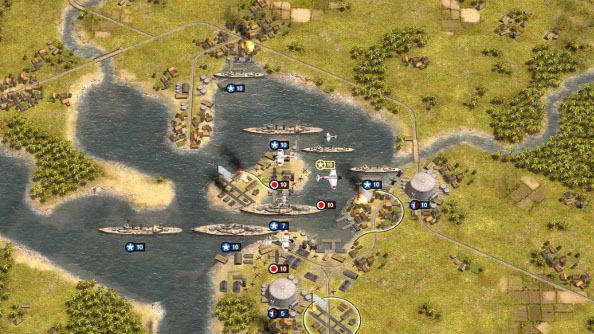 A wargame representation of the attack on Pearl Harbor.