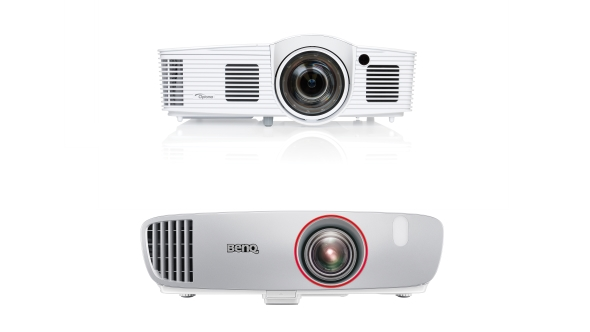 Optoma and BenQ short throw projectors