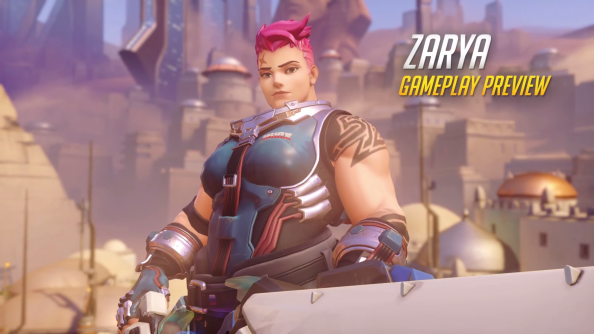 Be stronk like Overwatch's Zarya and disintegrate your foes with a giant laser cannon