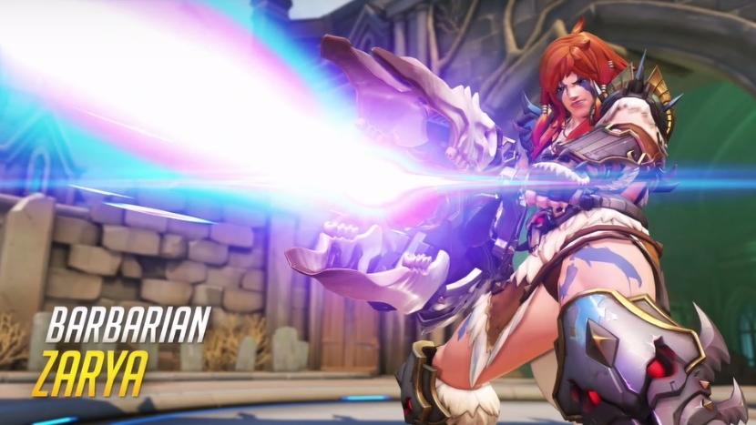 Overwatch Blizzard skins Barbarian Zarya