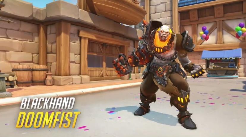 Overwatch Blizzard skins Blackhand Doomfist