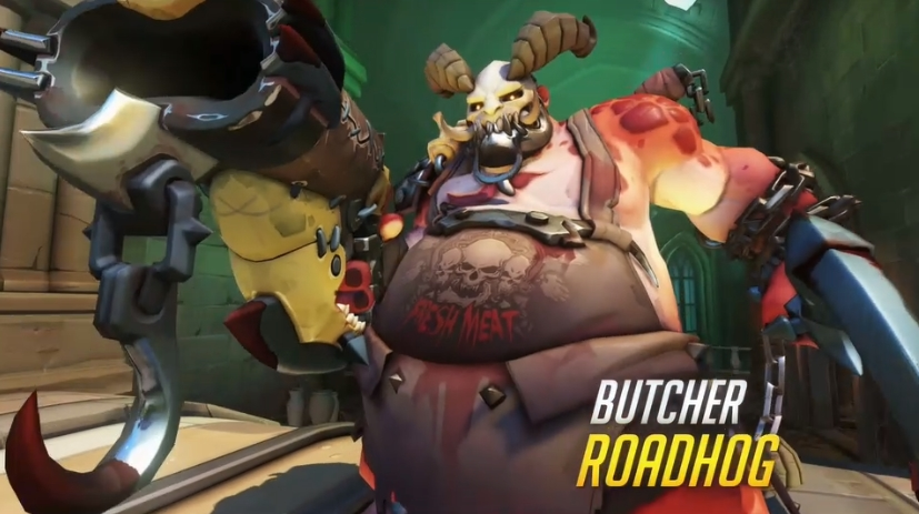 Overwatch Blizzard skins Butcher Roadhog