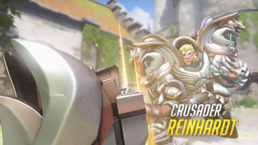 Overwatch Blizzard skins Crusader Reinhardt