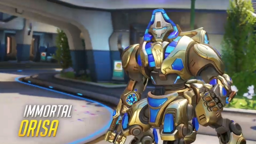 Overwatch Blizzard skins Immortal Orisa