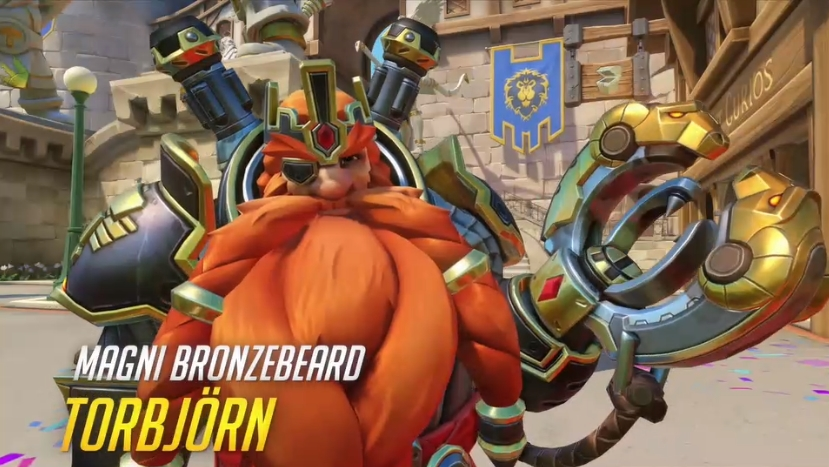 Overwatch Blizzard skins Magni Bronzebeard Torbjorn
