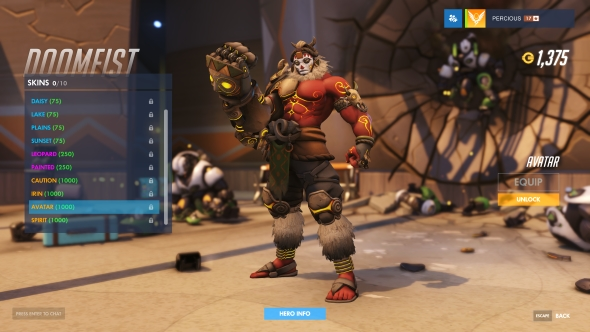 Doomfist skin Avatar legendary