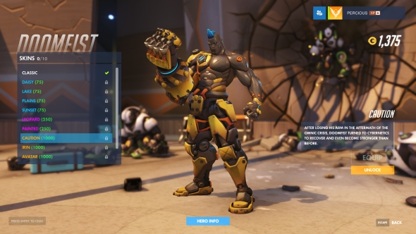 Doomfist skin Caution legendary