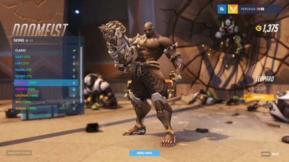 Doomfist skin Leopard epic