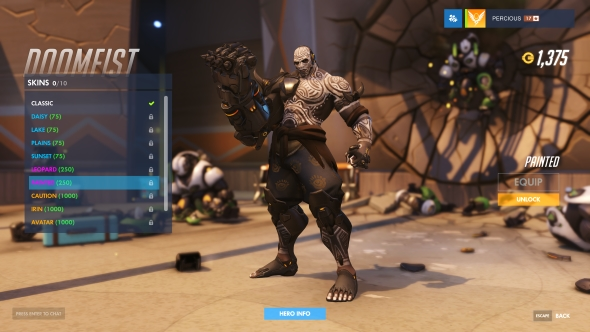 Doomfist skin Painted epic