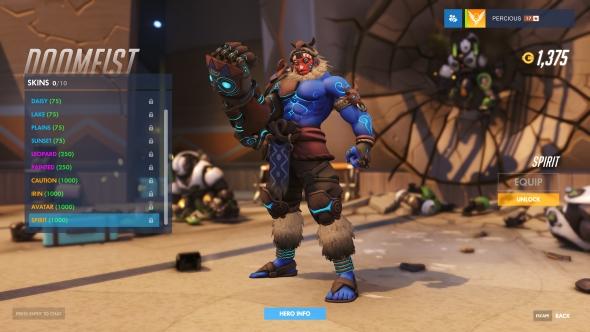 Doomfist skin Spirit legendary