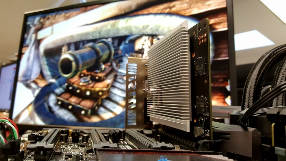 Original heatsink, before melting