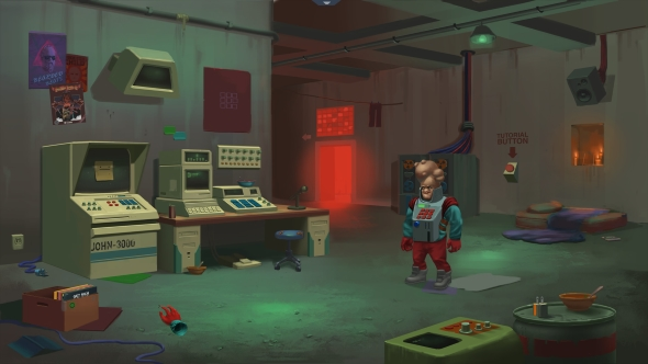 Paradigm is a point-and-click adventure featuring a candy-vomiting sloth
