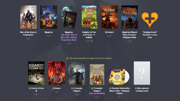 A collection of Paradox games at the Bundle store.