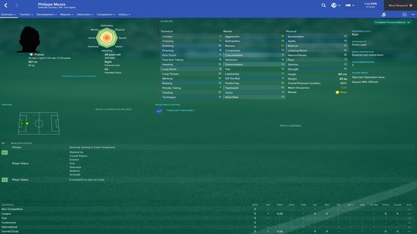 Football Manager 2017 Philippe Mexes