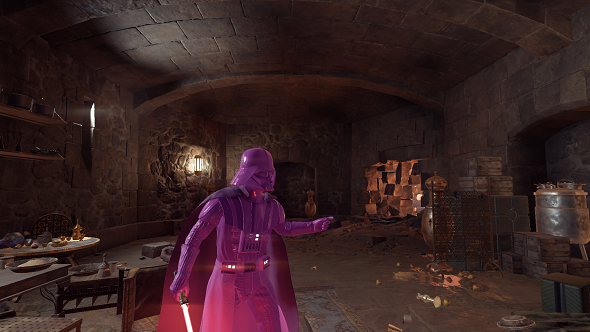 Star Wars Battlefront 2 pink Darth Vader