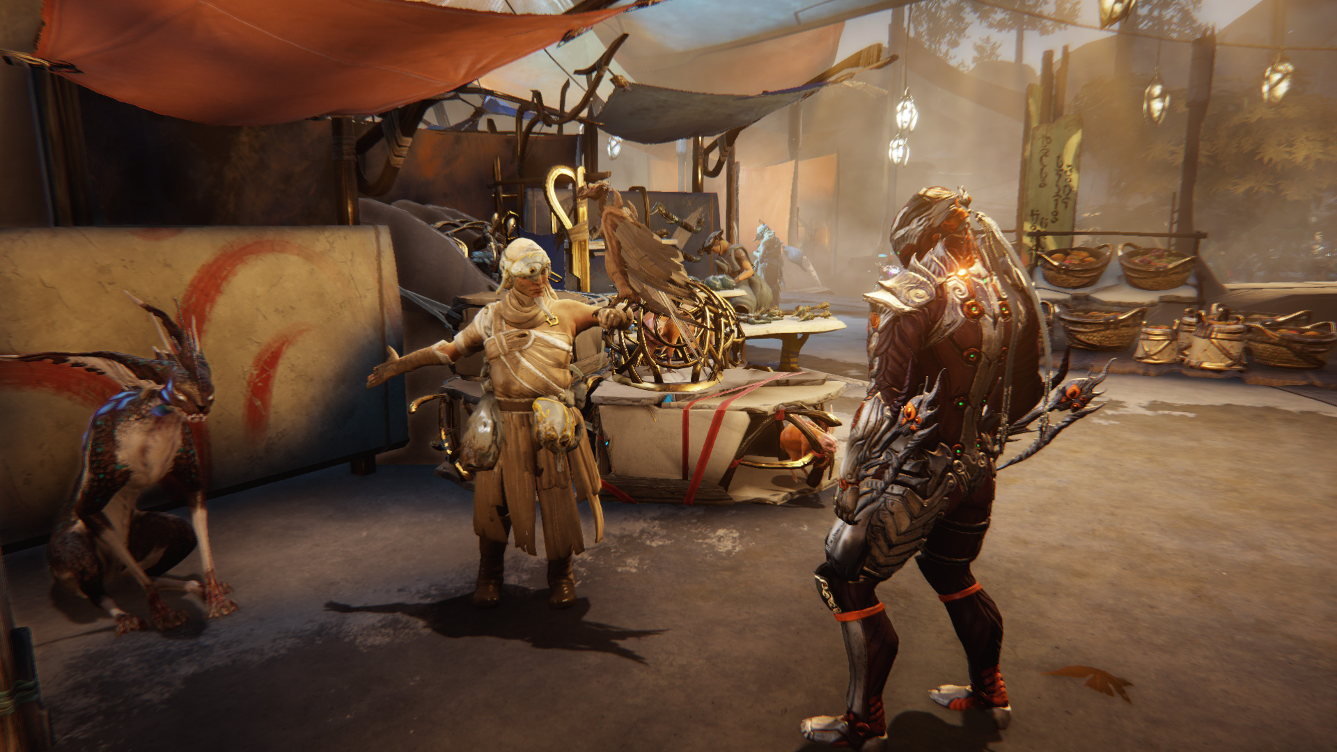 Warframe's open-world update is centred on a single coastal town