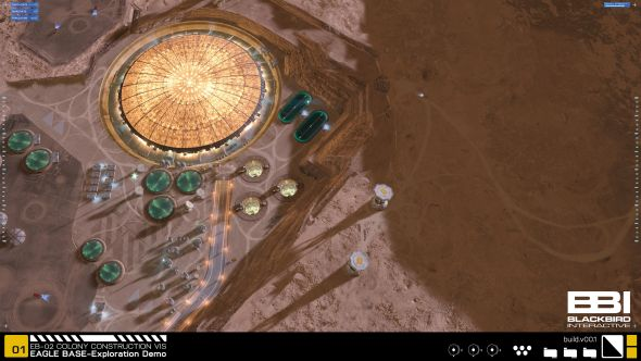 Eagle base from the air