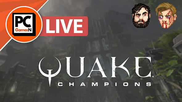 Watch us nail rail after rail (to the wall) in Quake Champions, live now