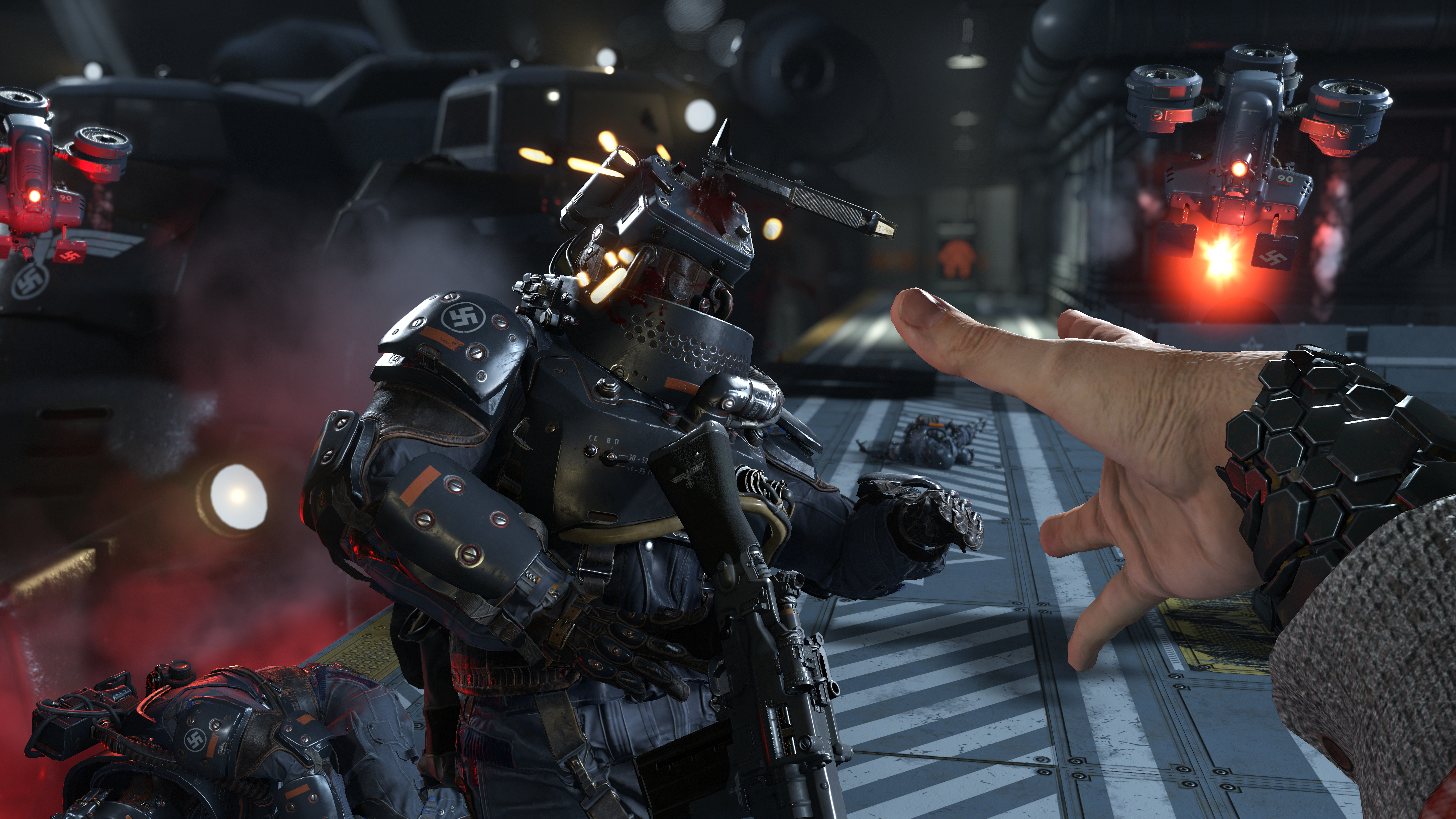 Wolfenstein 2's Nazi-stomping power suit is this year's must-have accessory