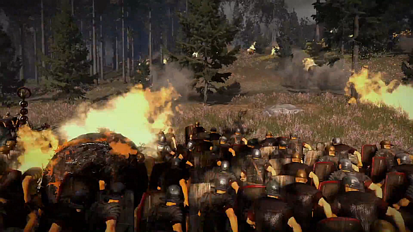Total War: Rome II video shows off the battle of Teutoburg, flaming balls