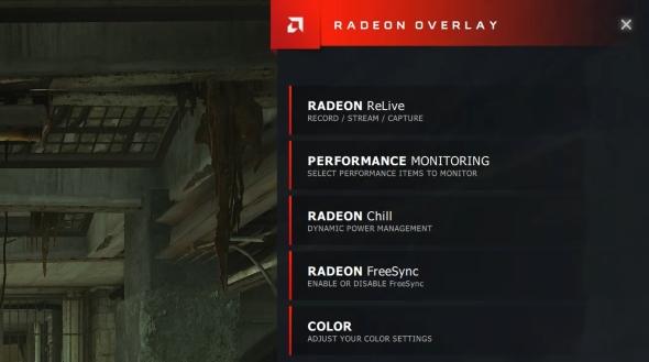 Radeon Adrenalin overlay basic settings