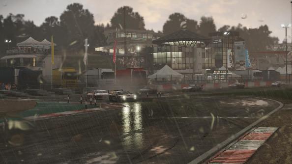 BMW Procars racing through the rain