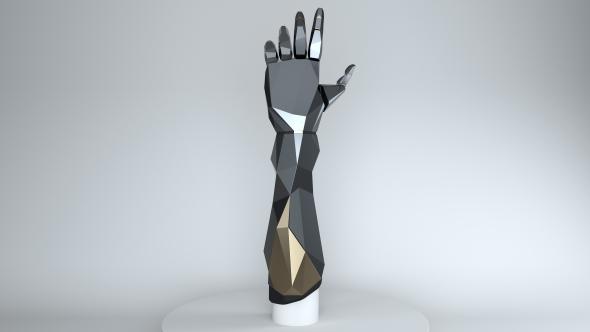 Gesture-controlled Deus Ex prosthetic