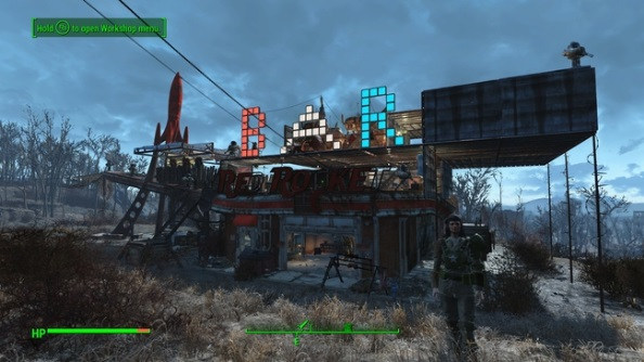 Best Fallout 4 settlements Red Rocket Garage bar