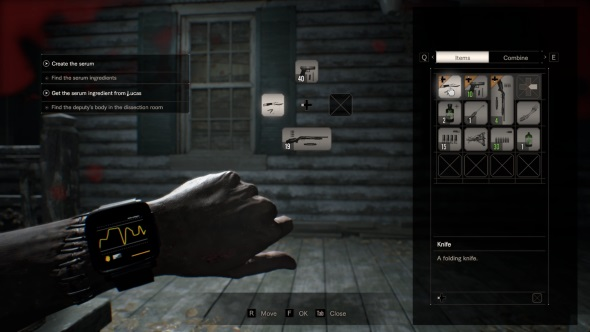 Resident Evil 7 PC review inventory