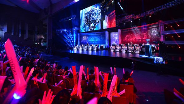 The stage at Worlds.