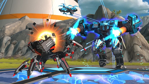 Robocraft battle