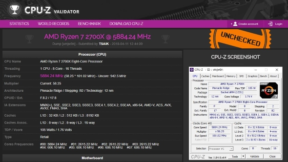 Ryzen 7 2700x 5.9GHz - click to enlarge