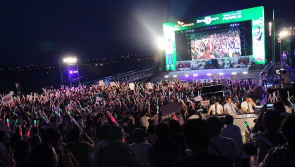 The main stage of the 2014 Proleague tournament.