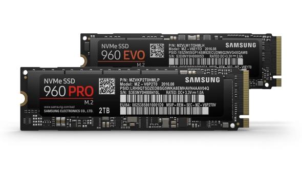Samsung 960 EVO and 960 Pro specs