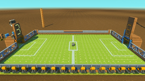 Scrap Mechanic creations Football Field