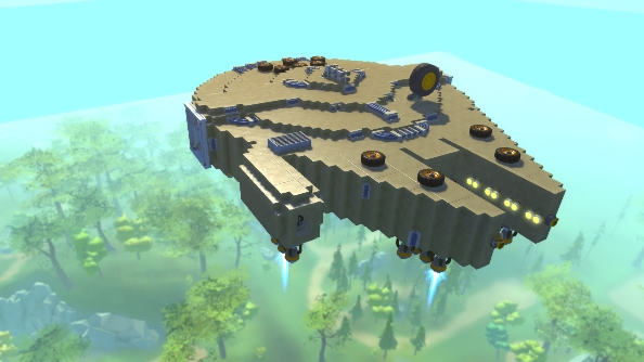 Scrap Mechanic creations Millennium Falcon
