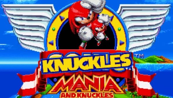 Sonic Mania on PC is moddable, as Knuckles Mania feat  Knuckles