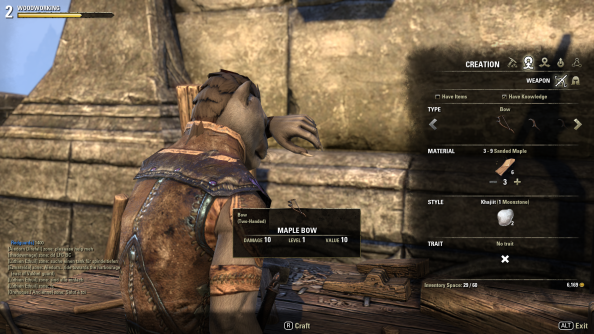 The Elder Scrolls Online Crafting