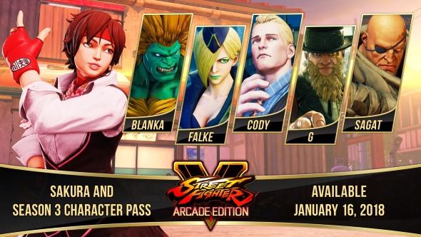 Returning fan-favourite Sakura headlines Street Fighter 5: Arcade Edition's refreshed roster