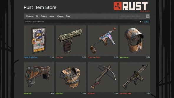 Survival FPS Rust has paid out over $1,000,000 to its community skin