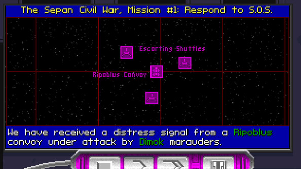 A TIE Fighter mission briefing