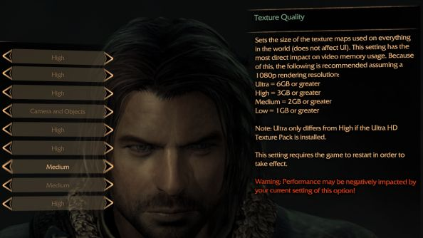 Middle-Earth Shadow of Mordor 6GB VRAM