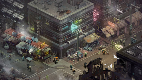 Shadowrun Returns concept art depicts the painted look sought for the final game