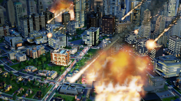 SimCity is all about earthquakes and homeless people