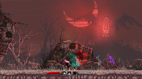 Slain! is a gothic action platformer that looks like a heavy metal album cover